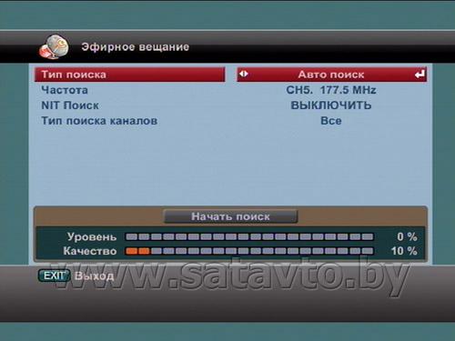 Частоты цифровых каналов   dvbproru